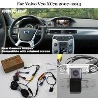 Car Rear View Back Up Reverse Fotocamera Imposta Per Volvo V70 XC70 2007 ~ 2013 di Visione Notturna di HD RCA e Schermo Originale Compatibile