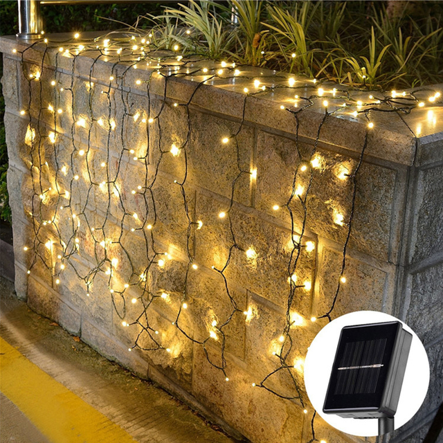 1020m solar led string lights exterior low voltage garden landscaping outdoor christmas tree decoration