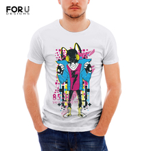 FORUDESIGNS 3D Print Pattern Mens Summer Tops Teenager Short Sleeves Breathable Boys Tees Cool Outdoor Sports Running Male Shirt