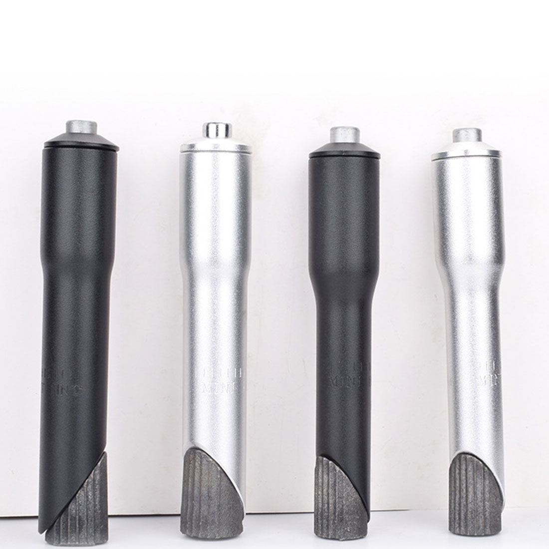 """Bicycle bike quill stem adapter 1/"""" 22.2mm to 1 1//8/"""" 25.4mm threaded silver"""