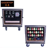 Gigertop Flightcase 9U Power Distribution Box 6m2 Delixi Power Cable 24 Road 32A Industrial Power Plug Waterproof IP44 CE ROHS