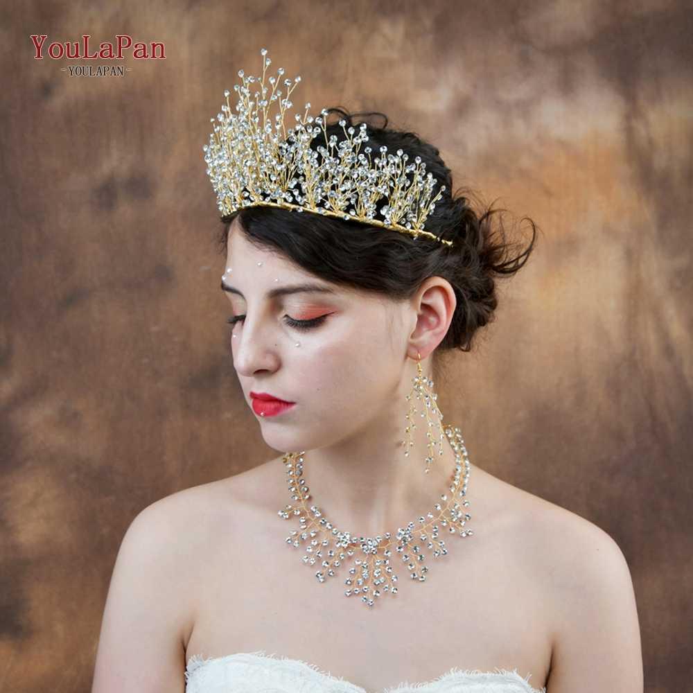 youlapan hp193-g bridal tiara wedding hair crown bride crown bridal wedding hair accessories wedding hair jewelry bride crown