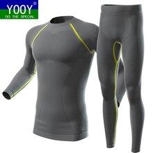 YOOY, мужские зимние комплекты термобелья для катания на лыжах, Топ с длинным рукавом, спортивная одежда, Hosen, сноубординг, рубашки и штаны