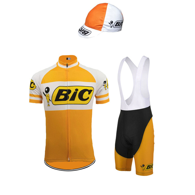 b48052cb8 Men short sleeve and bib shorts Jersey set BIC Cycling jersey Breathable Bike  Wear kit clothes Cycling Equipment ropa Ciclismo