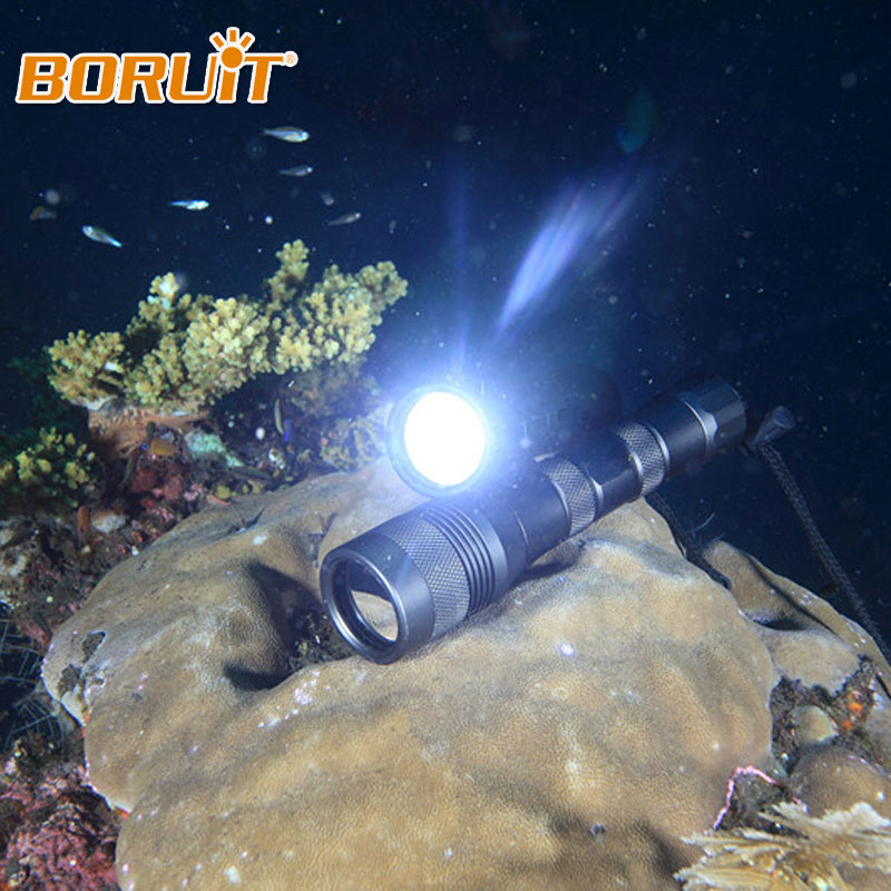 BORUIY 150M Underwater 1x XM-L L2 LED 2000 Lumens Diving Flashlight Torch Scuba Dive Light Waterproof Lamp For Adventure Fishing 3800 lumens cree xm l t6 5 modes led tactical flashlight torch waterproof lamp torch hunting flash light lantern for camping z93