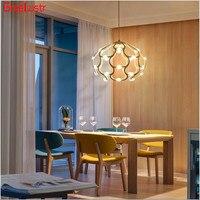 Postmodern Pendant Lamp Ironcage Lampshade Chandeliers For Kitchen Metal Art Design Hanging Lamp Droplight Led Lighting Fixture