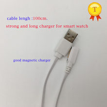 newest smart phone watch 100cm long charging 4pin charger strong Charger Cable for kw88 kw99 kw06 kw98 t88 q750 kw18 h7 h8(China)