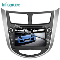 Infispruce 2 Din Android 6 0 Car Dvd Player Gps For Hyundai Solaris Accent Verna Quad
