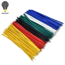 100 pièces étamé platine de prototypage PCB soudure câble 24AWG 10CM mouche cavalier fil câble étain conducteur fils 1007 24AWG connecteur fil