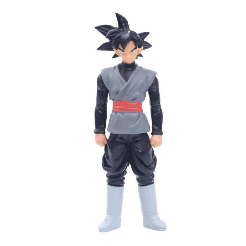 6 pçs/lote 14 centímetros Anime Dragon Ball Z DBZ Goku Action Figure Toy Zamasu Mai PVC Coleção Modelo Boneca Para Crianças Presente Frete Grátis