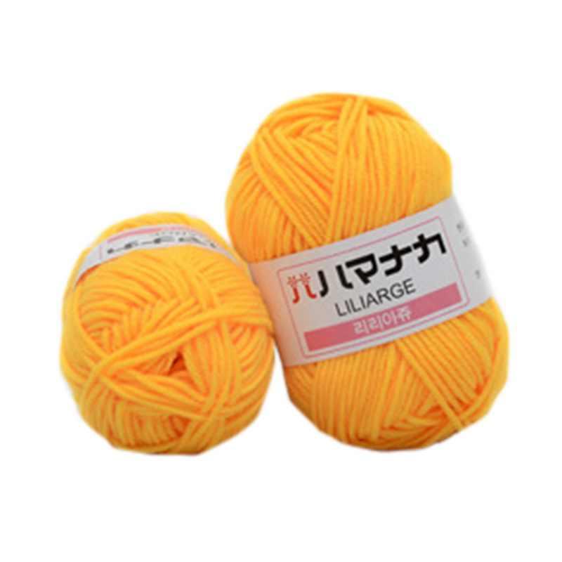 DIY cálido hilo de algodón de leche hilo de lana para tejer niños hilo de tejido a mano manta de ganchillo hilo de tejer suministros