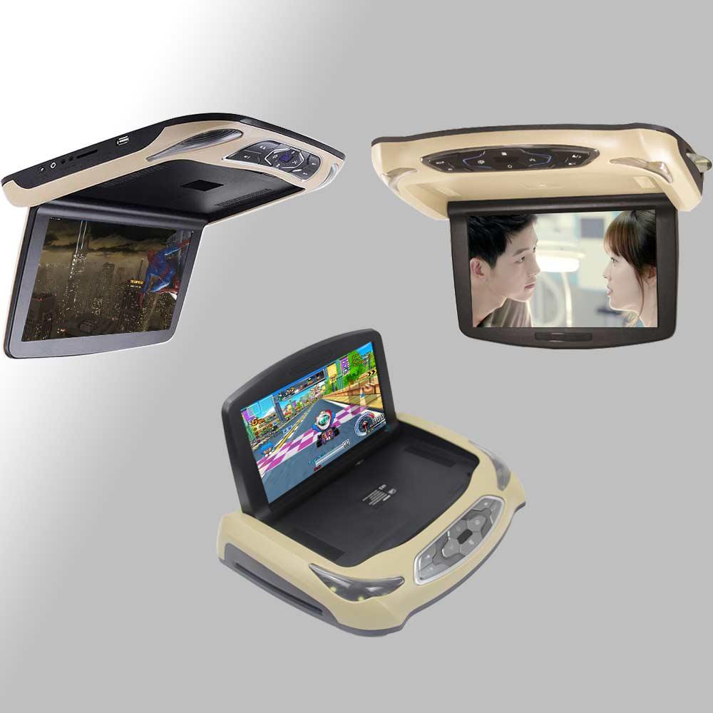 BigBigRoad Автомобильный откидной монитор для Cadillac XT5 светодиодный цифровой экран накладные Мультимедийные видео потолок на крыше