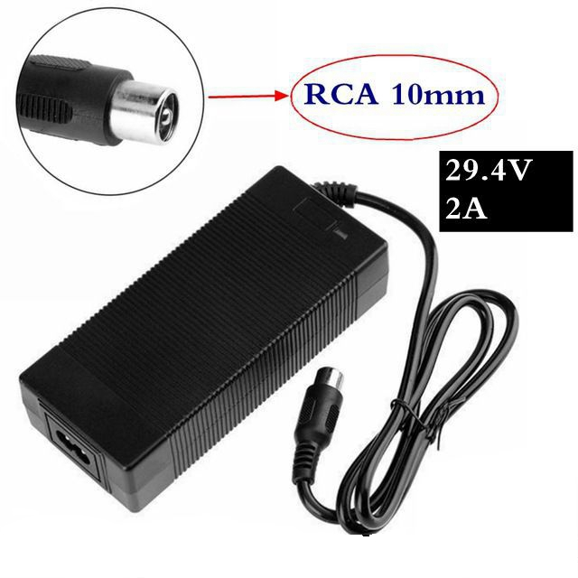 29.4V 2Acharger For 24V 25.2V 25.9V 29.4V 7S Lithium Battery Pack 29.4V Recharger E-bike Charger RCA-Steckverbinder+High-qualit