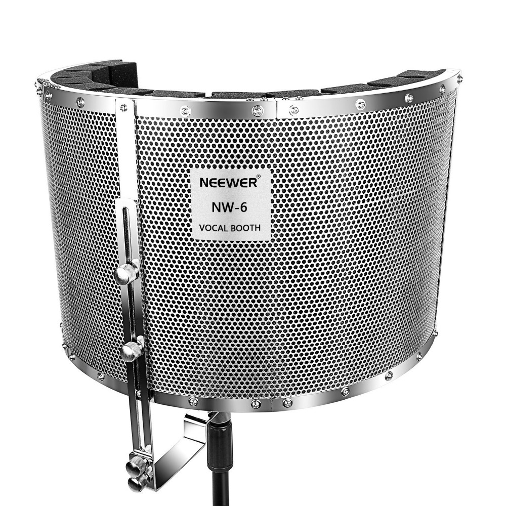 Neewer <font><b>Microphone</b></font> Isolation Shield Absorber Filter Vocal Isolation Booth with for Mic Stand
