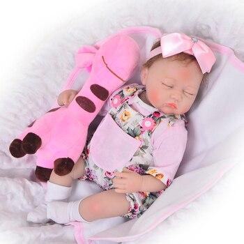 17inch 42cm Silicon Reborn Babies Princess newborn bebe Doll Toys For Girls Children Lifelike Toddler modeling play house
