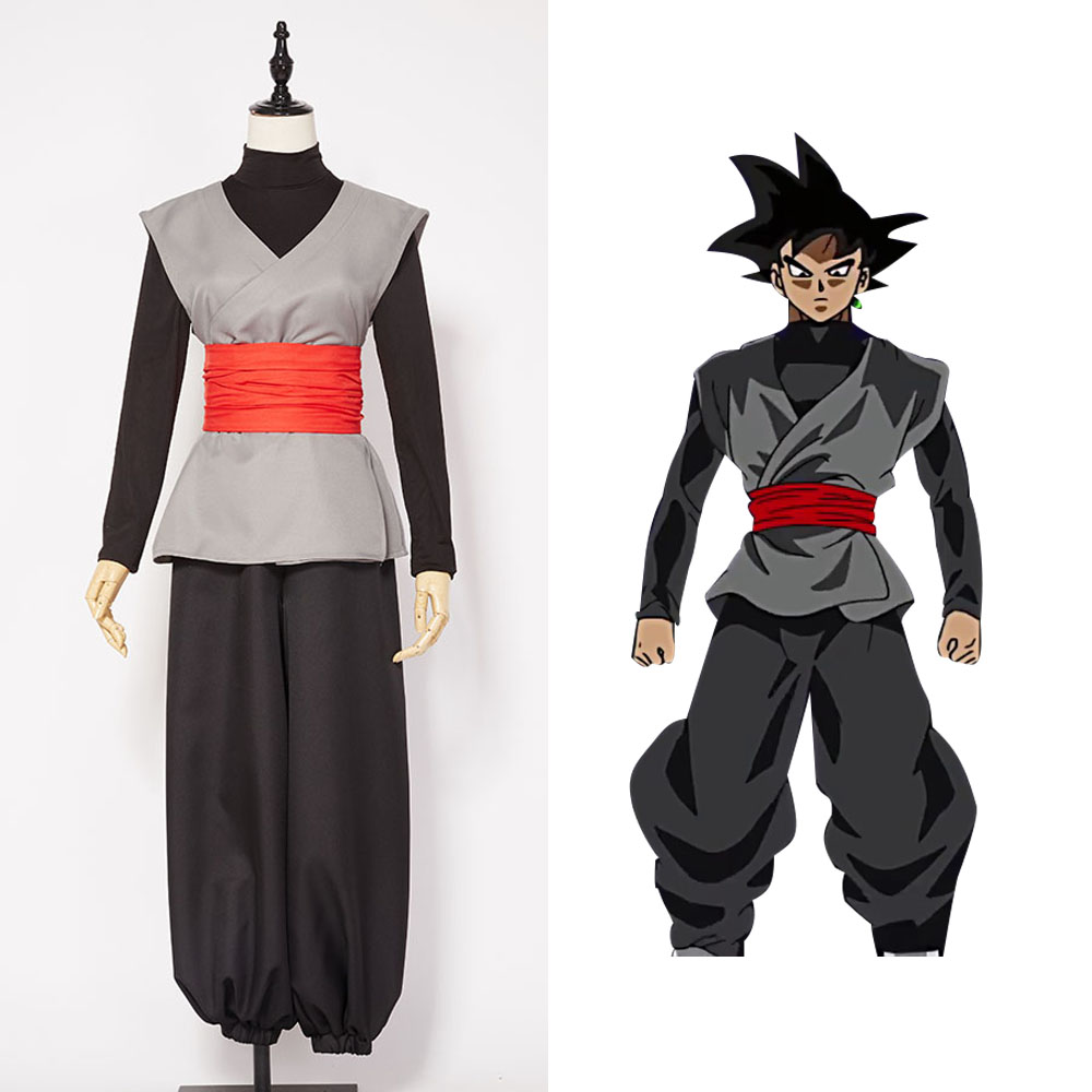 Dragonball Super Son Goku Black Outfit Cosplay Costume For Men Boys Full Set