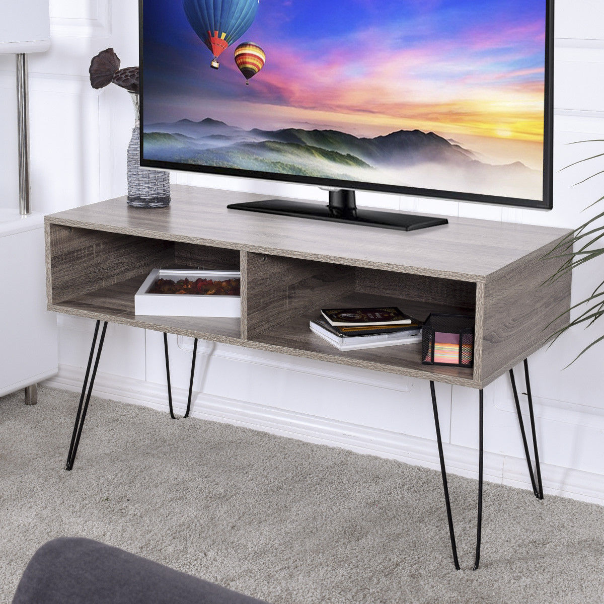 modern console table aliexpress buy giantex modern tv stand wood media 11393