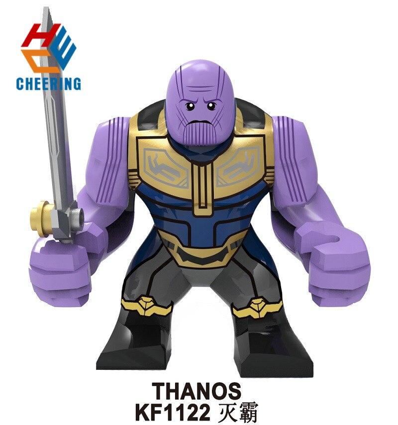 KF1122 Big Figures Building Blocks Avengers 4 Endgame Bricks Super Heroes Iron Hulk Thanos Black Widow Toys Gift For Children
