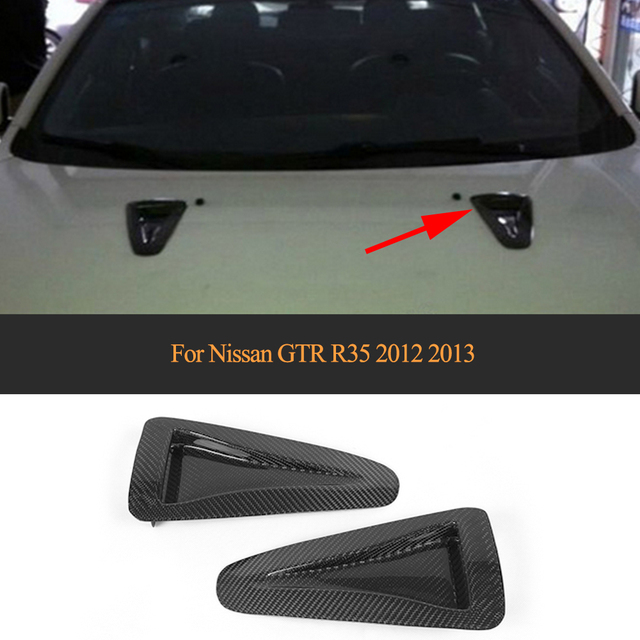 Carbon fiber Car Air Vent Auto Car Side Fender Trims For Nissan GTR R35 2012-2013