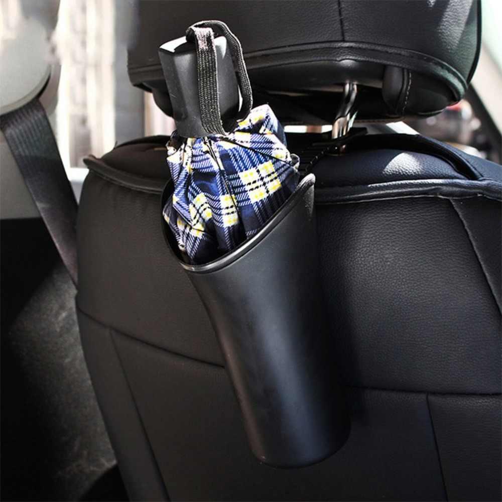 Nuevo multifuncional tanque de almacenamiento de coche cubo de basura paraguas de botella de agua soporte organizador para coche caja de almacenamiento con gancho de suspensión caliente