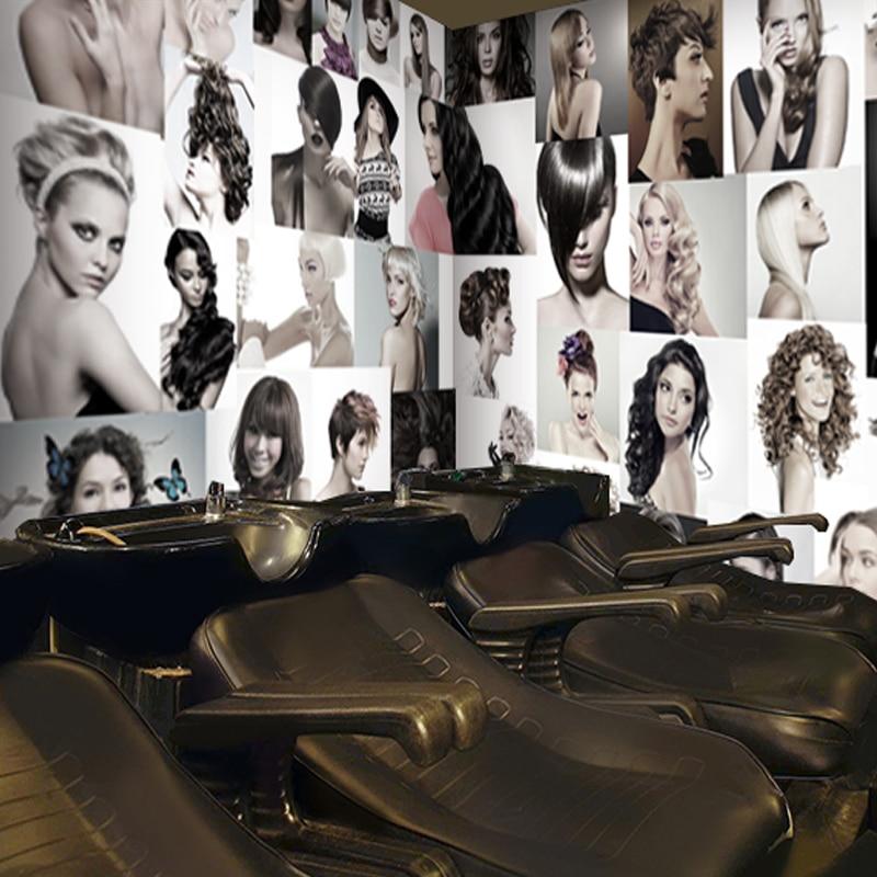 Custom Wall Mural Fashion Hair Salon Barber Shop Beauty