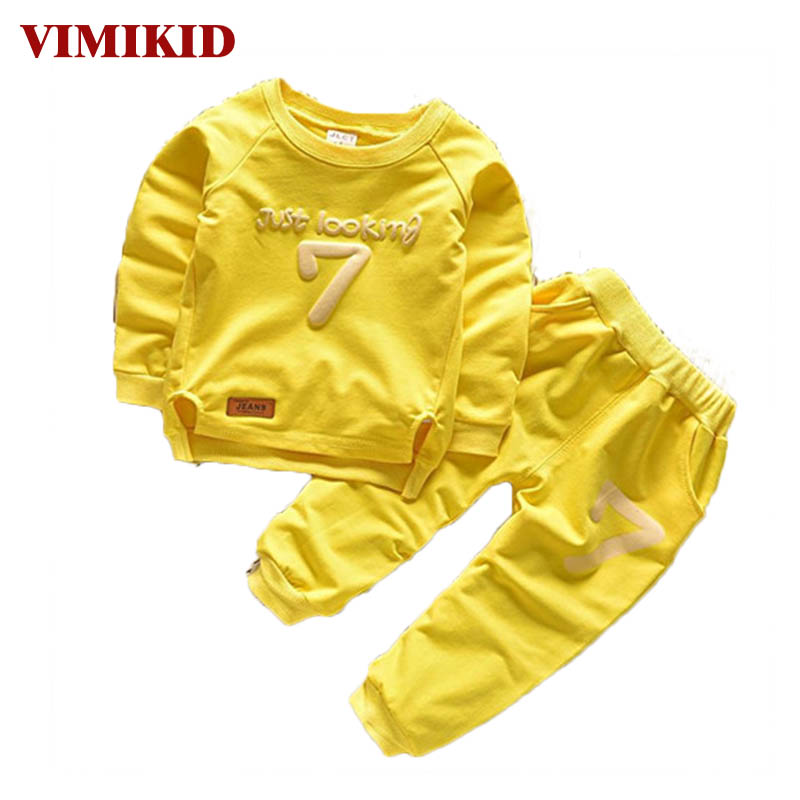 VIMIKID 2-6 Autumn Children Clothing Sets Boys Girls Warm Long Sleeve Sweaters+Pants Fashion Kids Clothes Sports Suit for Girls autumn winter girls children sets clothing long sleeve o neck pullover cartoon dog sweater short pant suit sets for cute girls