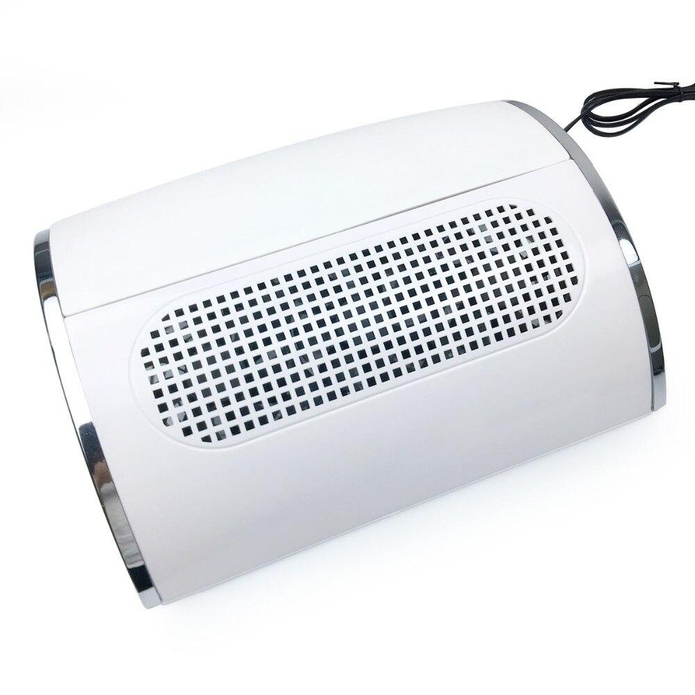 40 W Nail Art dépoussiéreur d'aspiration avec 3 ventilateurs UV Gel vernis dépoussiéreur Nail Art outil aspirateur manucure Machine ventilateur