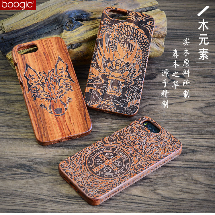 Original Wood Case For Xiaomi Mi 6 Hard Carved Pattern Retro Coque Protective Back Cover Cases For xiaomi mi6 m6 phone shell