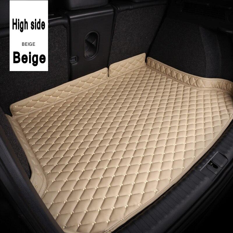 ZHAOYANHUA багажнике автомобиля коврики для AUDI A1 A3 A4 A5 A6 A7 A8 Q3 Q5 Q7 A4L A6L A8L S5 TT автомобиль грузовой сзади лайнер коврик багажника ковер