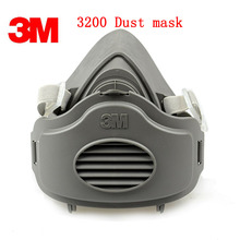 3M 3200 dust mask +10PCS 3701 cn Filter cotton Genuine respirator face mask against Dust smoke Organic gas anti dust mask