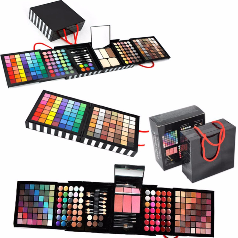 177 Color Eyeshadow Makeup Palette Shimmer Professional Matte Eye Shadow Face Foundation Lip Gloss Collection Makeup Set Kit блестки для макияжа nyx professional makeup face and body glitter 01 цвет 01 blue variant hex name 2b638a