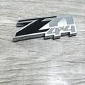 2pc For Chevrolet Silverado 3D z71 4x4 Emblem Badge ABS Logo Sticker For GMC Sierra Truck Bed 4x4 Chevy Silverado Sierra Plastic