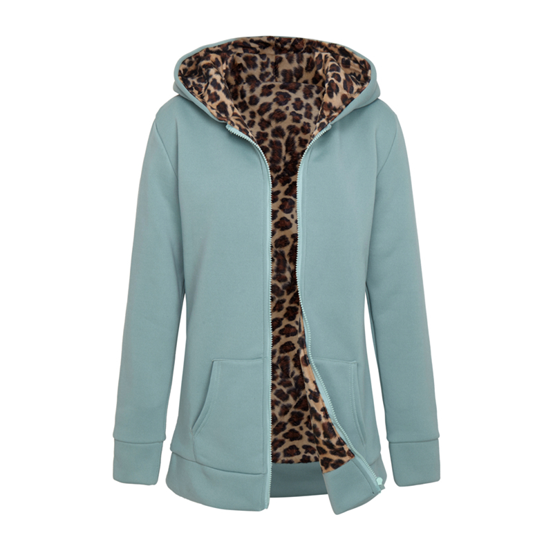 Women's Winter Warm New Casual Solid Color Long Zipper Hoodie Pullover Sweatshirt Autumn Women's Casual Sweatshirt