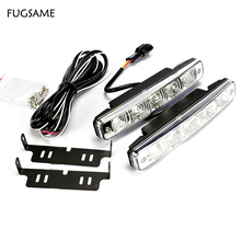 One set Universal DRL LED Light ,10W Auto Car Fog Good Fitment Day DRL, led drl light kits for VW,Mazda