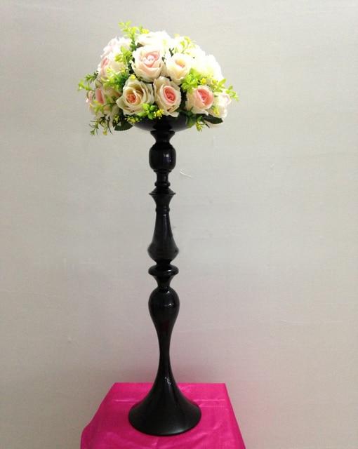 69cmh Black Wedding Flower Vase Table Centerpiece 27h Party