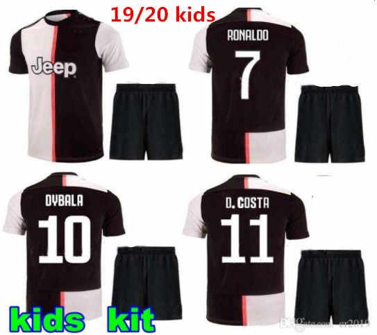 cd8e25275 kids kit 2019 RONALDO DYBALA 19 20 HIGUAIN HOME AWAY Juventus soccer jersey  football shirt MANDZUKIC