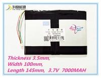 5 Thread 35100145 3 7 V 7000mAH Bateria Li Ion Para Tablet Pc 9 7 Polegada