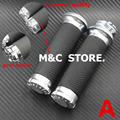 "Silver Motorcycle Handle CNC 1""25mm Handlebar Hand Grips For Harley Sportster Touring Dyna Softail Custom"