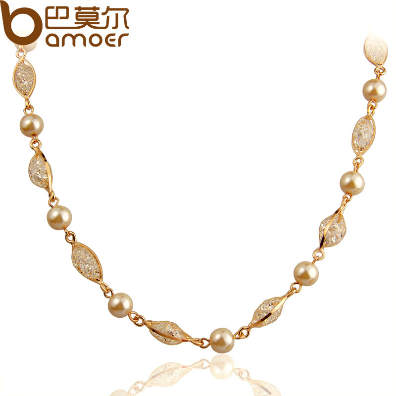 Bamoer Luxury Pearl Wedding Jewelry Sets For Women Rose Gold Color ...