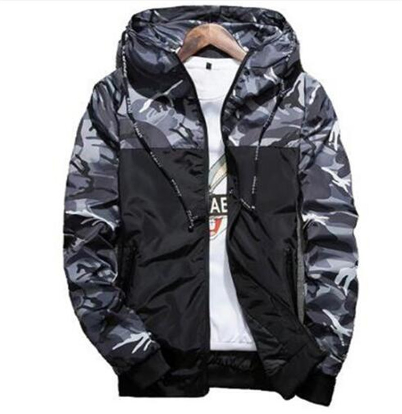 HTB1.dbJlL1TBuNjy0Fjq6yjyXXaC Spring Autumn Mens Casual Camouflage Hoodie Jacket Men Waterproof Clothes Men's Windbreaker Coat Male Outwear