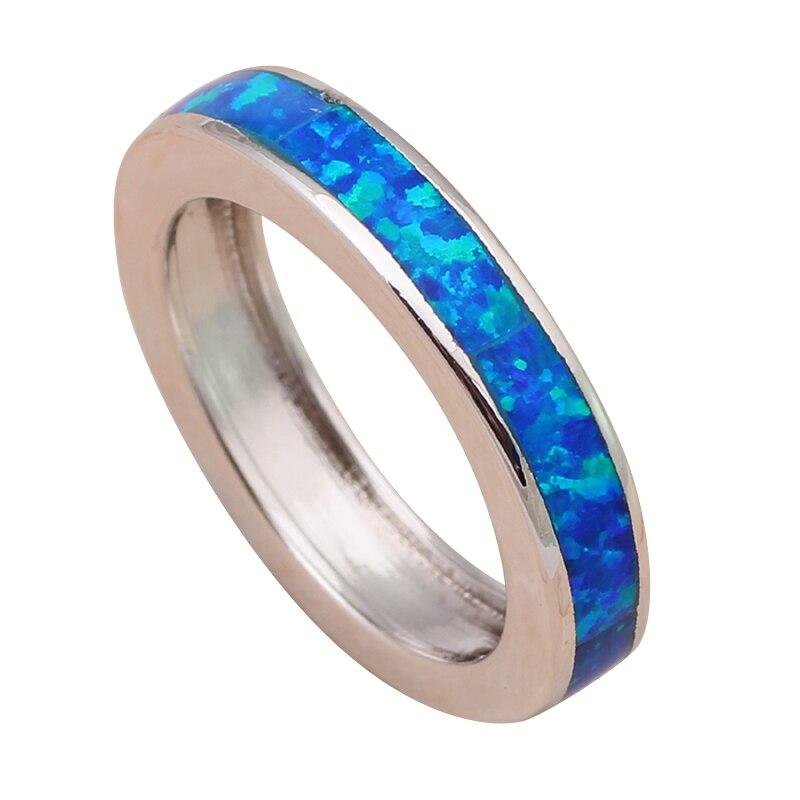 Le plus bas prix En Gros Au Détail Bleu Opale de Feu Argent Estampillé Anneau USA Sz #6 #7 #7.5 #8 #9 #10 Bijoux De Mode pour les femmes OR691A