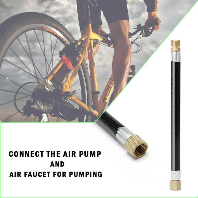 1pc MTB Bike Tire Gas Valve Adapter Inflater Air Pump Extension Pipe Tube N#S7