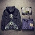 Japão Estilo Homens Jaqueta Moda Primavera Padrão de Impressão Mens Jaquetas e Casacos Plus Size Jaqueta Com Capuz Blusão Windrunner 5XL-M