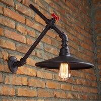 Steam Punk Loft Industrial Iron Rust Wall Lamp Lighting Fixtures Bedside Restaurant Bar Pub Study Cafe
