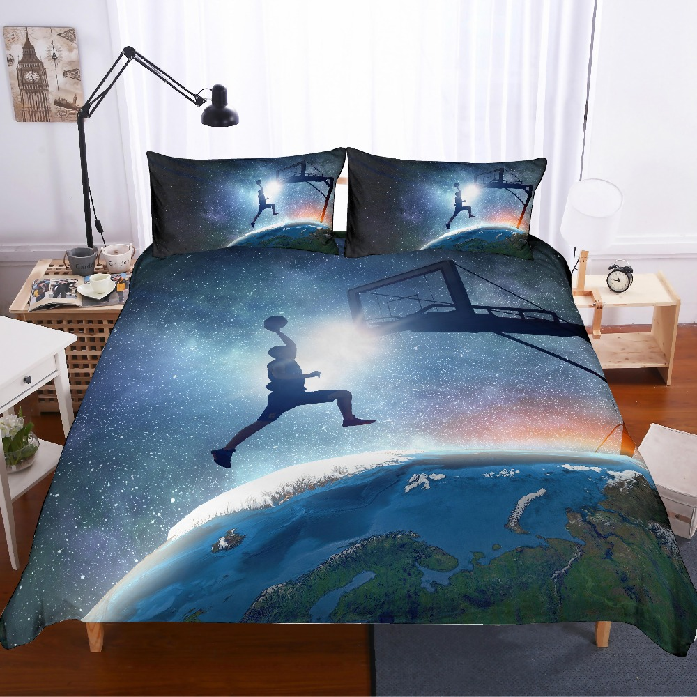 3D Print Basketball Bedding Set Earth Basket Dribble Friends/kids Gift, Duvet Cover Set Home Textiles