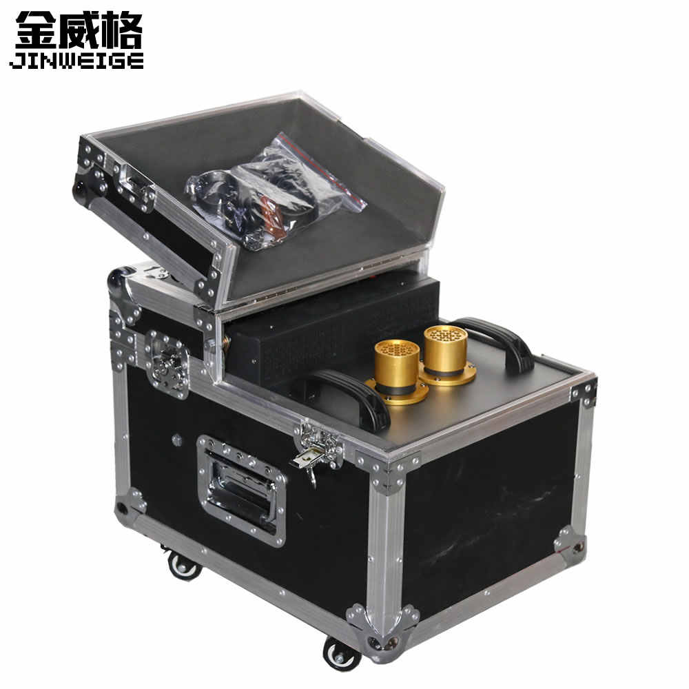 Free Shipping 900W Haze Machine 900W Dual Hazer Machine Fog Smoke Machine DMX512 With Flight Case