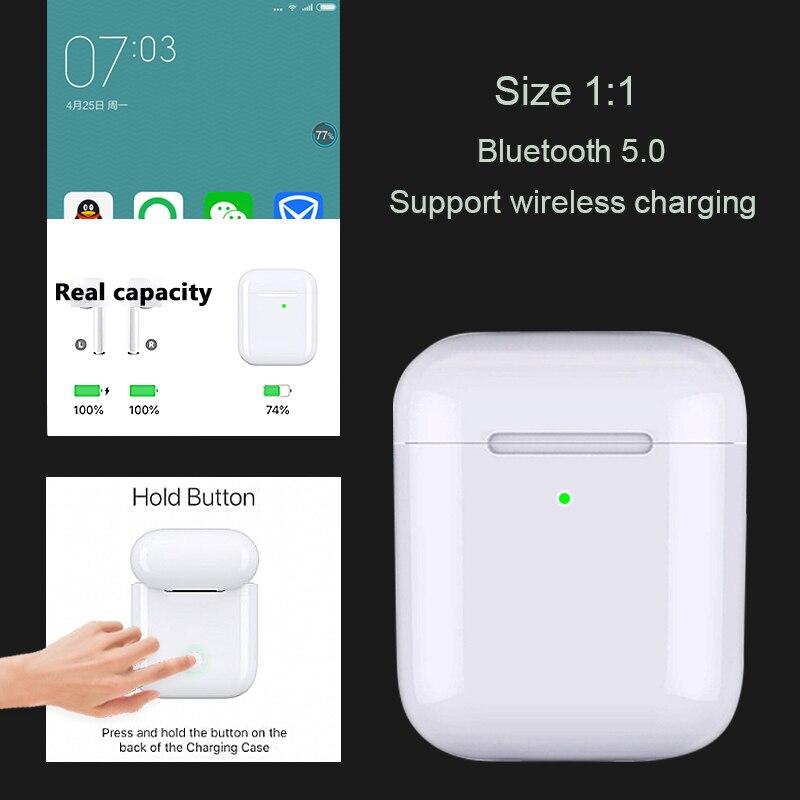 Bluetooth 5.0 TWS écouteurs sans fil Original 1:1 Air 2 PK i100 i60 i30 fenêtre Pop-up QI sans fil charge Bluetooth écouteurs
