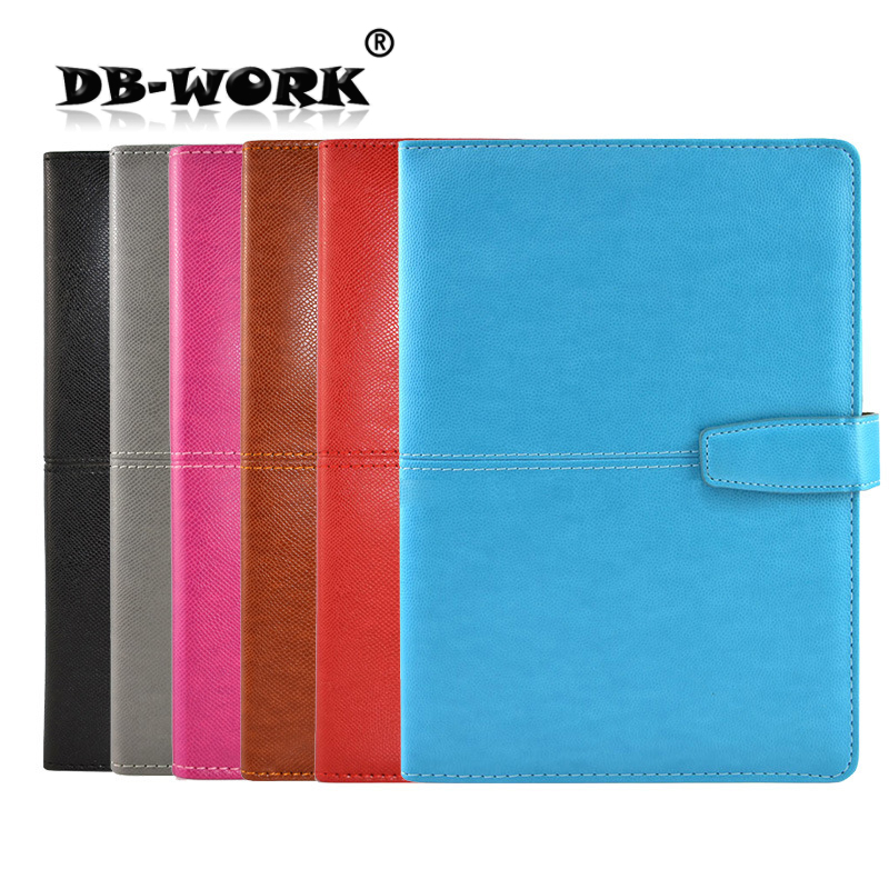 2018 Business leather notebook A leather office Notepad A5 color PU sheet of the business wh 7740 pu leather sleeve paper notebook black white 127 sheet size m