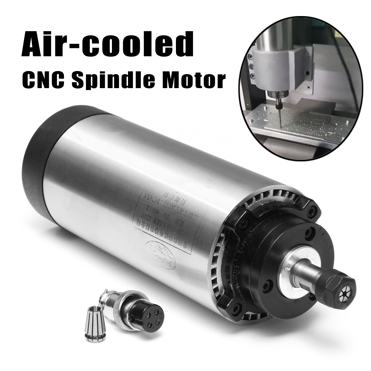 Air Cooled CNC Spindle Motor 220V AC 1.5kw ER11 24000rpm 400Hz 4 bearings CNC Milling Machine Tool Spindle huajiang brand new arrive 1 5kw spindle motor 220v air cooled motor 400hz hot selling cnc spindle motor machine tool spindle