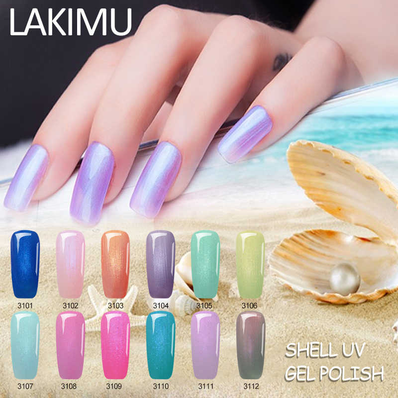 Lakimu UV Gel Varnish Nail Polish 7ML Shell Gel Polish Pearl Lucky Semipermanent Cameo Shell Gel Varnish Hybrid Mermaid Lacquer